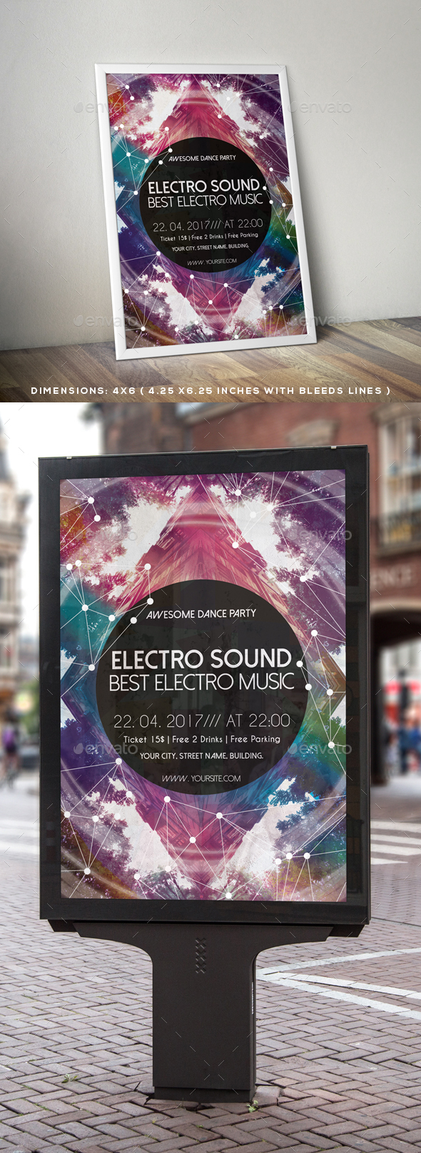 Electro Sound Flyer Poster - Clubs & Parties Events