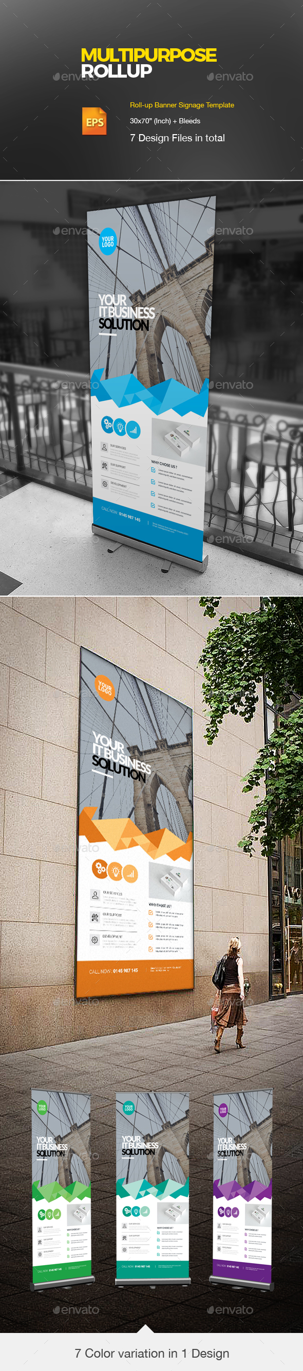 Roll Up - Signage Print Templates