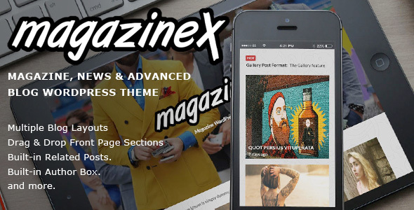 Magazinex – Magazine/Blog Theme