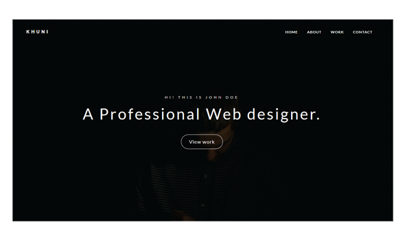 Khuni - Personal Portfolio Template - Personal Site Templates