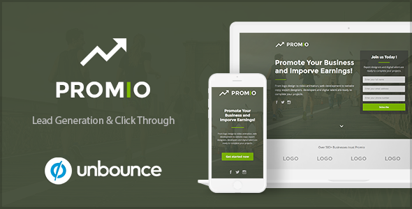 PROMIO – Marketing Multipurpose Unbounce Landing Page