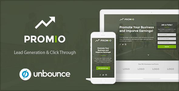 PROMIO - Marketing Multipurpose Unbounce Landing Page - Unbounce Landing Pages Marketing