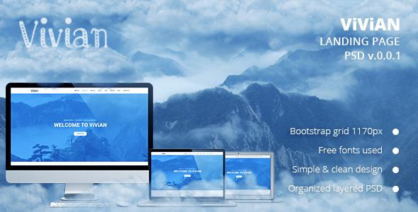 Vivian – Landing Page PSD Template