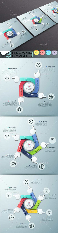 Modern Infographic Teamwork Templates (3 Items)