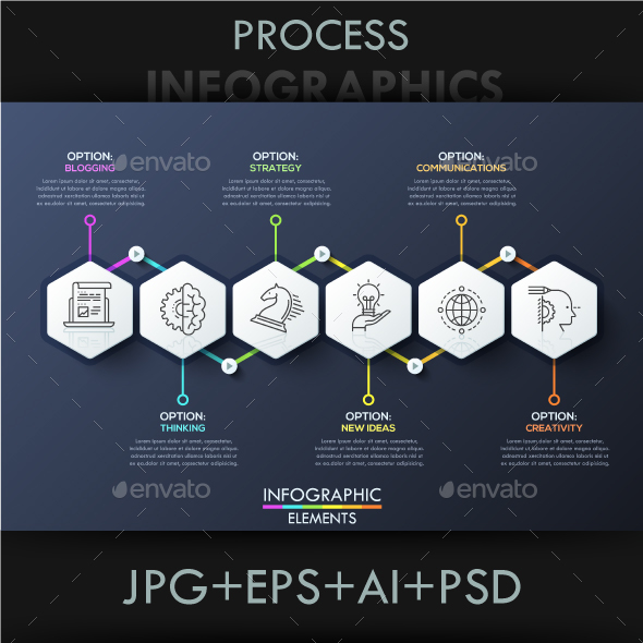 Modern Infographic Process Template by Andrew_Kras | GraphicRiver