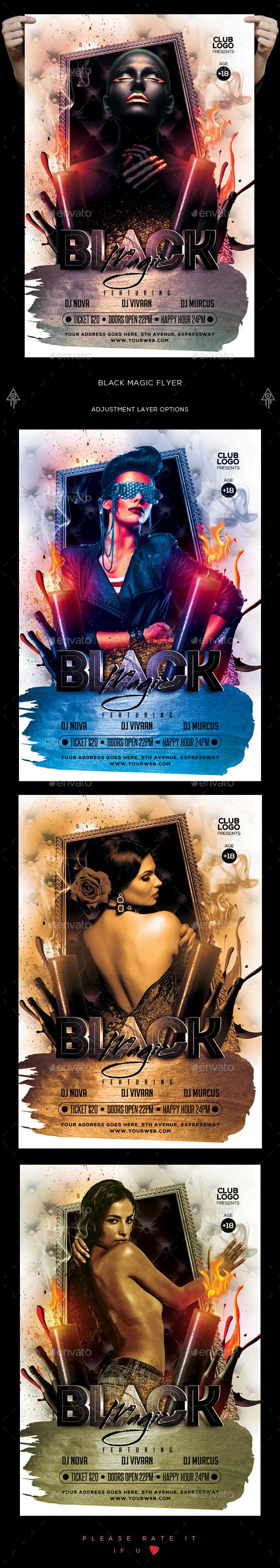 Black Magic Flyer - Clubs & Parties Events
