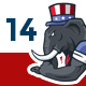 14 USA Presidential Campaign Characters - GraphicRiver Item for Sale