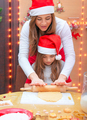 Happy family making Christmas cookies - PhotoDune Item for Sale
