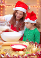 Happy family preparing for Christmas - PhotoDune Item for Sale