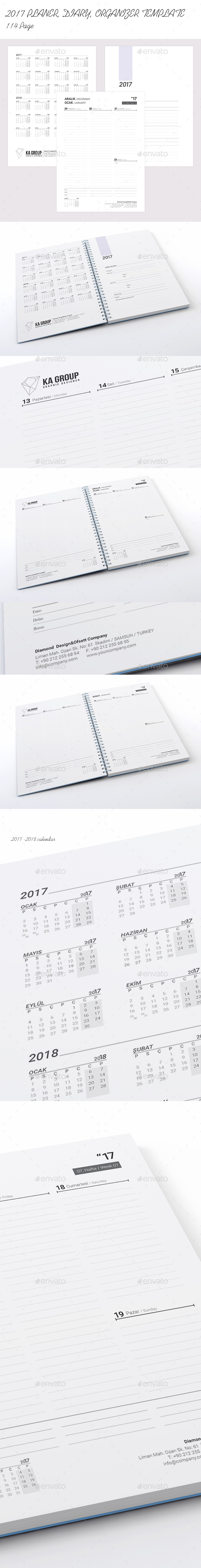 Weekly Planner 2017 over 114 pages - Calendars Stationery