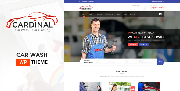 Car Dinal - Car Wash & Workshop WP Theme - Business Corporate