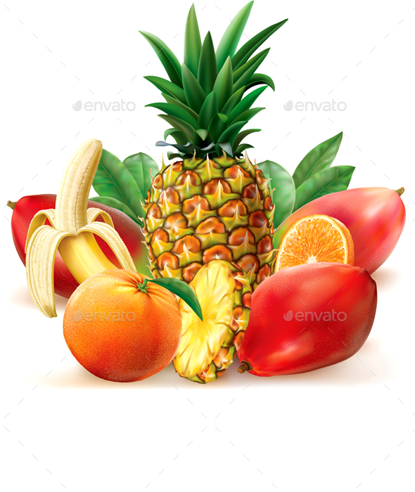 Juicy Tropical Fruit - Food Objects