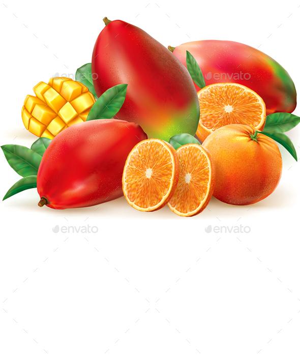 Orange and Mango - Food Objects
