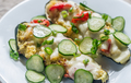 Stuffed zucchini with couscous and mozzarella