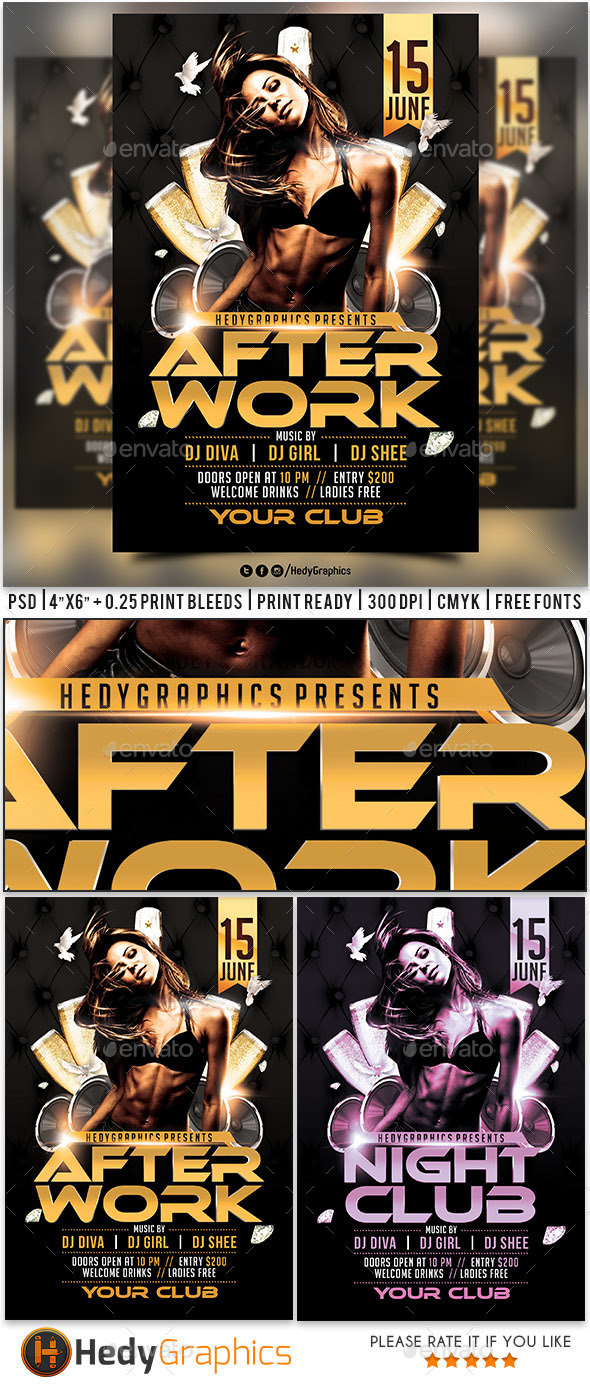 After Work - Flyer - Clubs & Parties Events