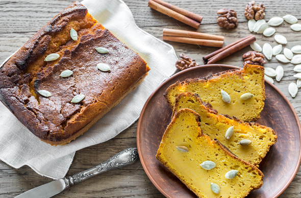 Loaf of pumpkin bread - Stock Photo - Images