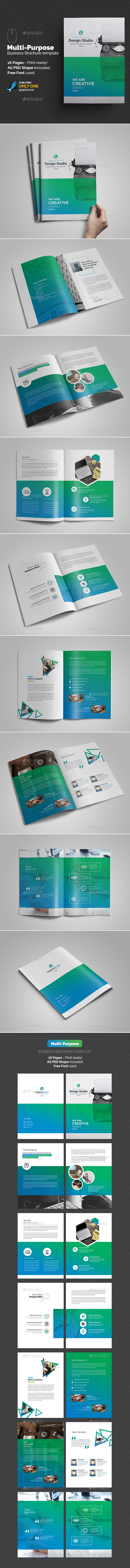 Multi-Purpose Agency Brochure Template - Brochures Print Templates