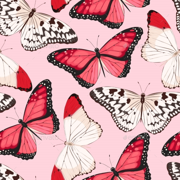 Colorful Butterflies Seamless - Patterns Decorative
