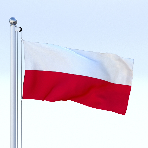 Animated Poland Flag - 3DOcean Item for Sale