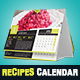 Elegant Recipes 2018 Desk Calendar Template - GraphicRiver Item for Sale