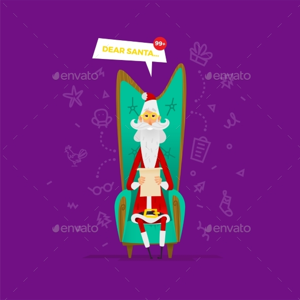 Santa Claus Vector Illustration - Christmas Seasons/Holidays