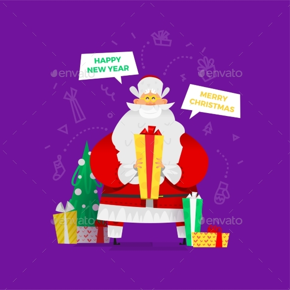 Santa Claus Vector Illustration - Christmas Seasons/Holidays