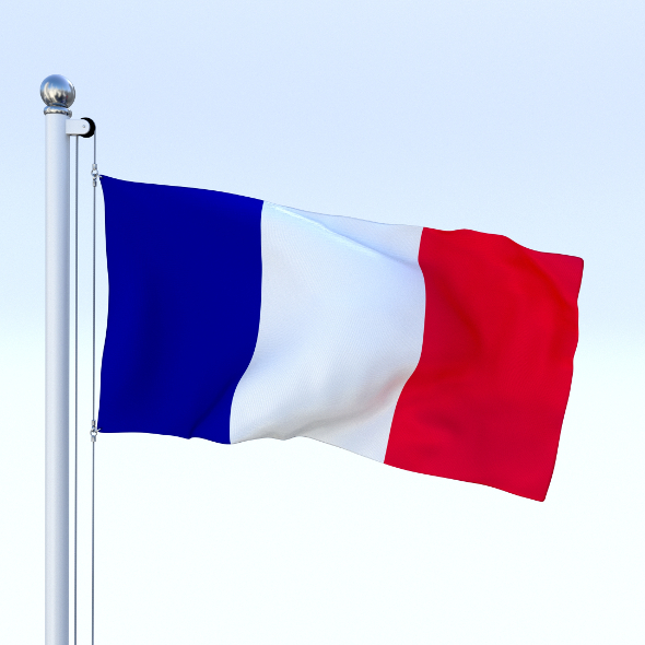 Animated France Flag - 3DOcean Item for Sale