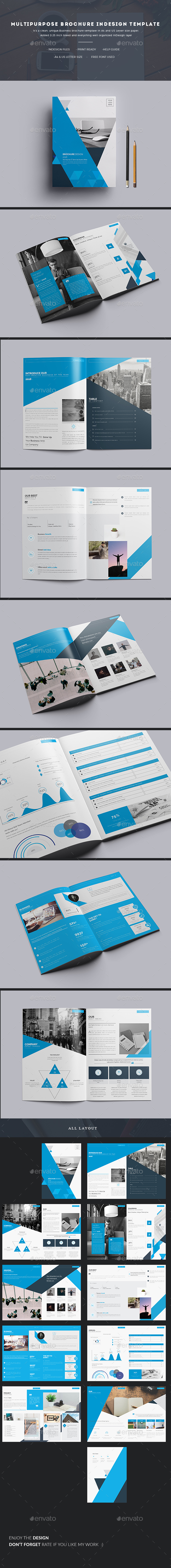Multipurpose Brochure InDesign Template - Corporate Brochures