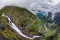 Troll's Path Trollstigen or Trollstigveien winding mountain road - PhotoDune Item for Sale