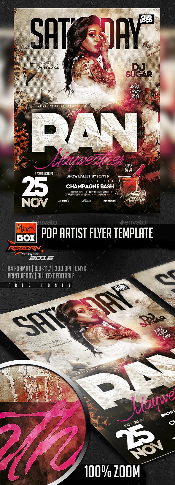 Pop Artist Flyer Template - Events Flyers