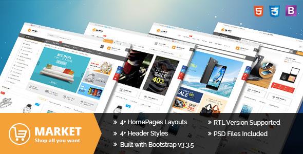 Market – Multipurpose eCommerce HTML Template