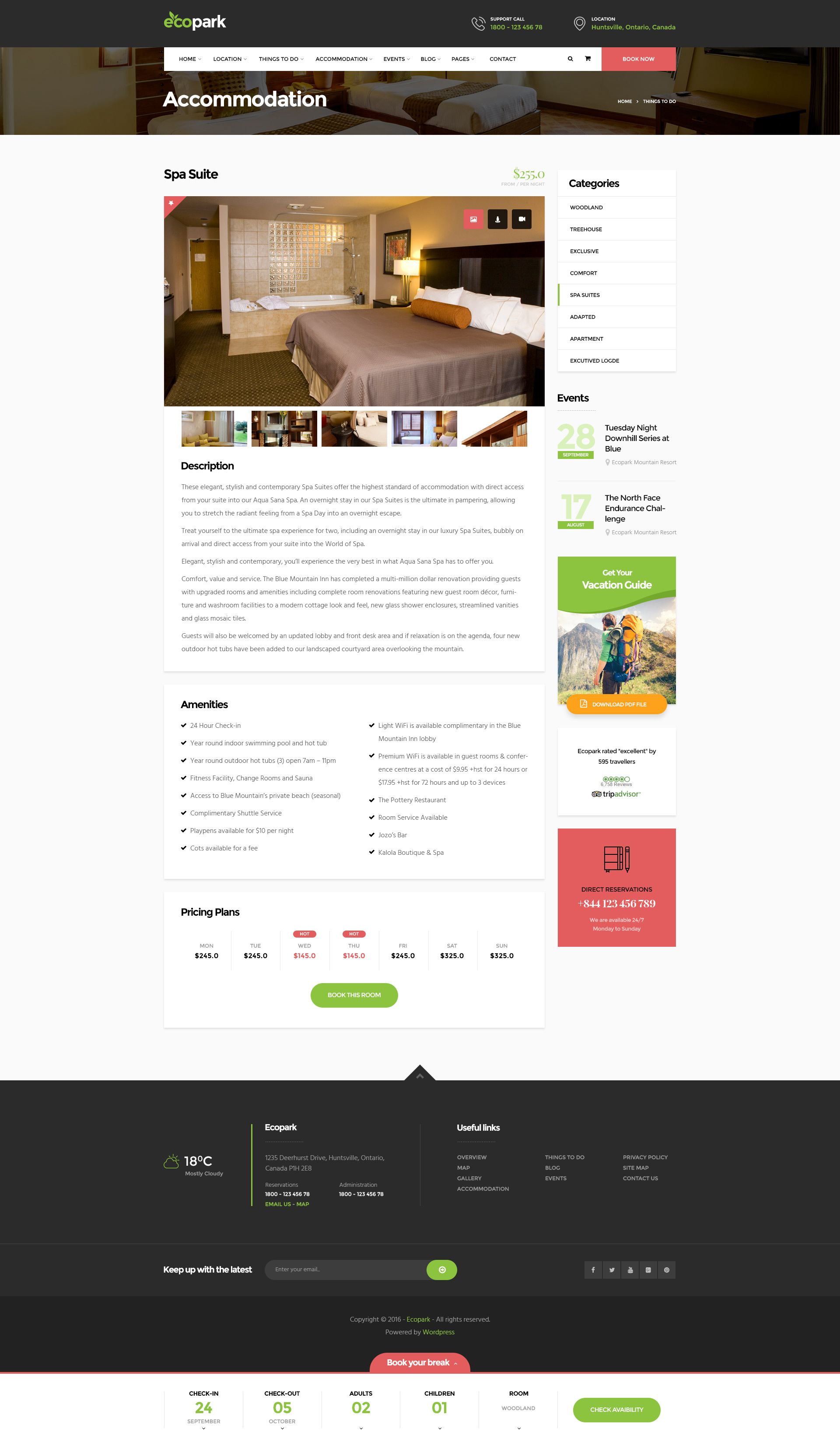 Ecopark - WordPress Theme for Tour, Vacation, Travel & Resort by Opal_WP