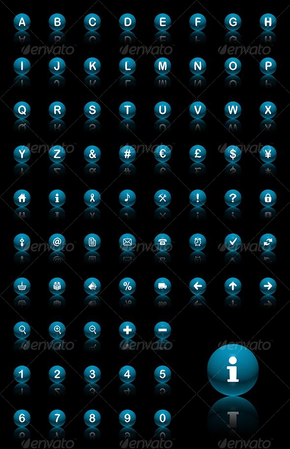 spheres icon set - Web Icons