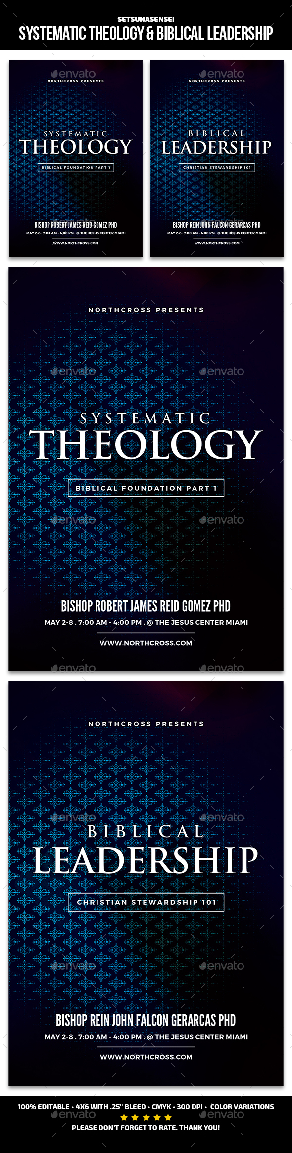Systematic Theology & Biblical Leadership - Church Flyers