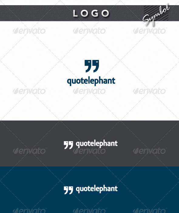 QuoteLephant Logo - Symbols Logo Templates