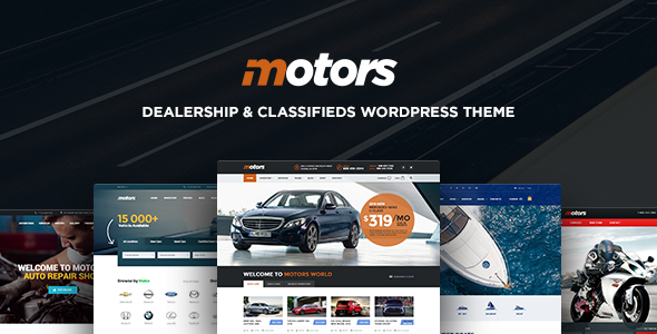 Motors ­- Automotive, Cars, Vehicle, Boat Dealership, Classifieds WordPress Theme - Directory & Listings Corporate