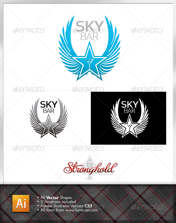 Sky Bar Logo Template - Crests Logo Templates
