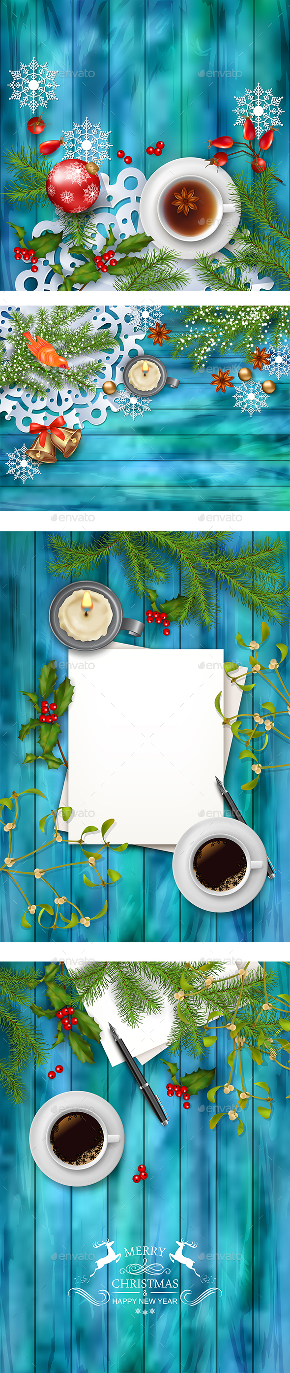 Christmas Background Set - Christmas Seasons/Holidays