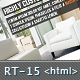 RT-Theme 15 Premium HTML Template  - ThemeForest Item for Sale