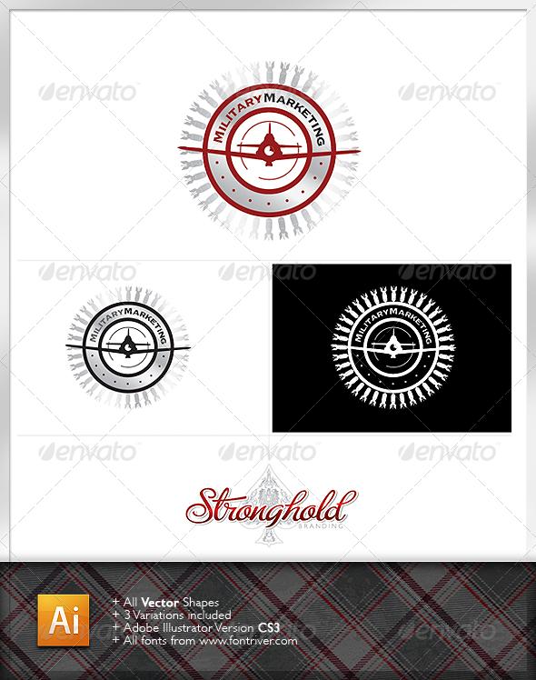 Vintage Military Crest 4 Logo