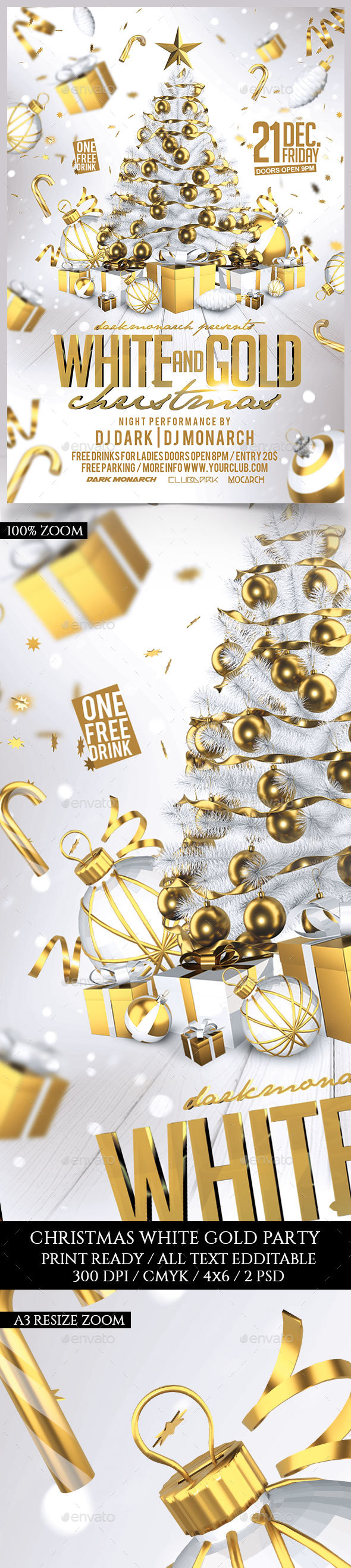 White and Gold Christmas Party - Holidays Events