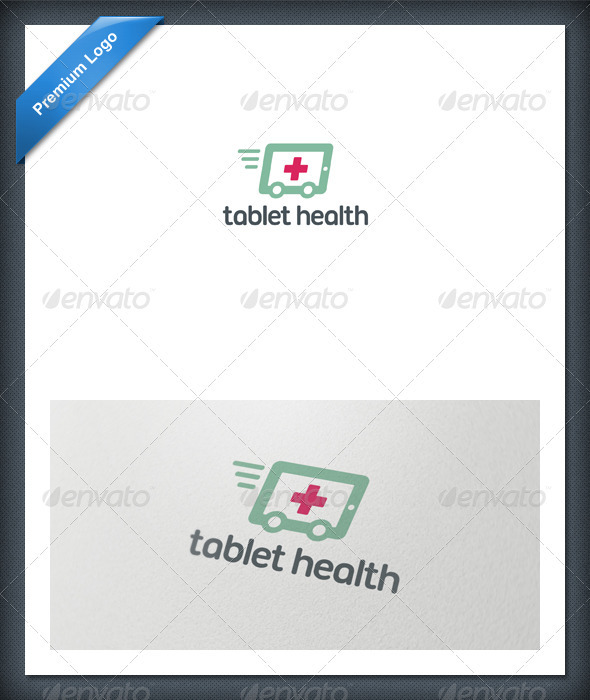 Tablet Health Logo Template - Objects Logo Templates