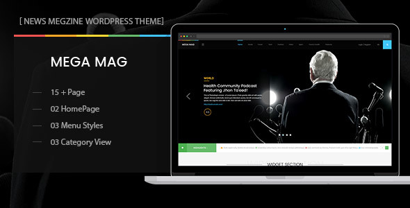 MegaMag – News, Newspaper, Magazine, Blog, Viral Content and Review WordPress Theme