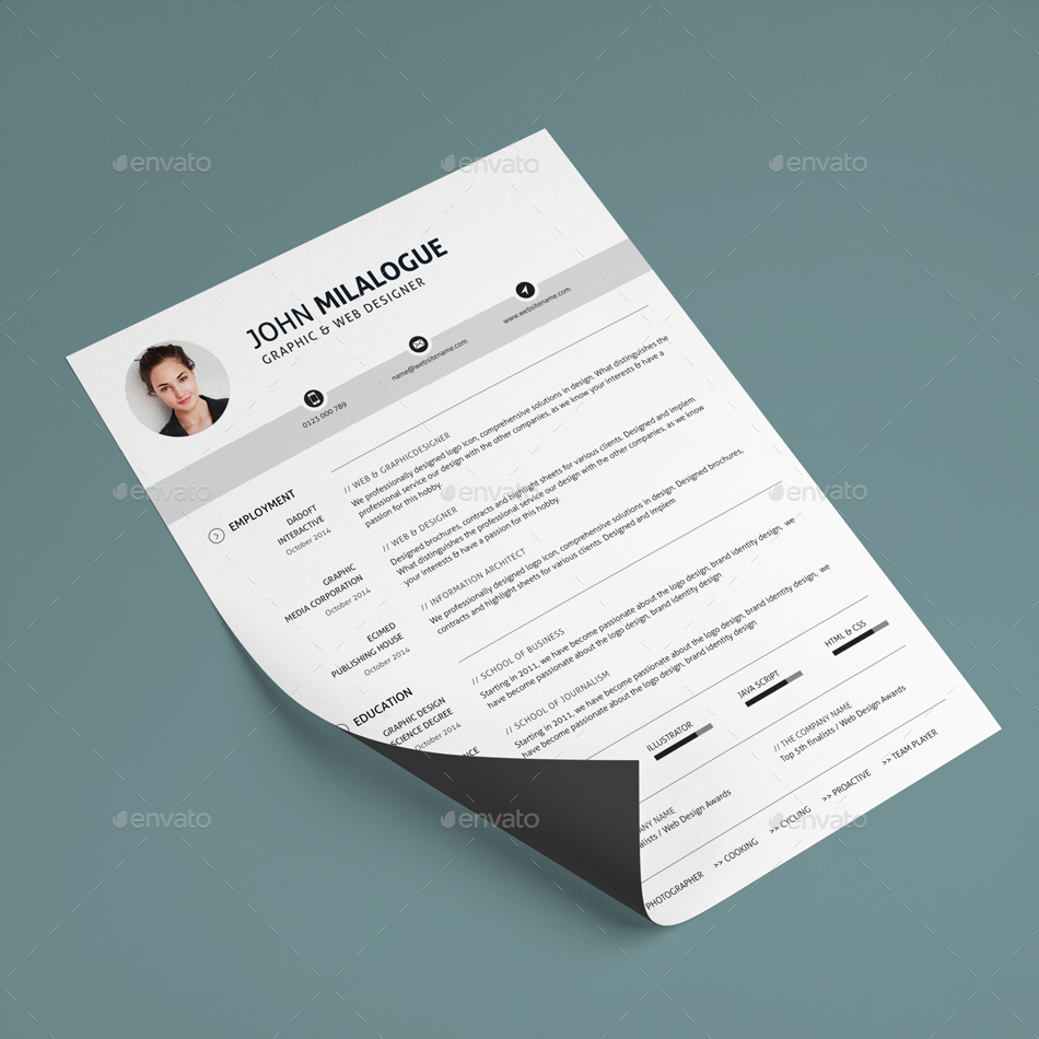 Resume by ohaydesign | GraphicRiver