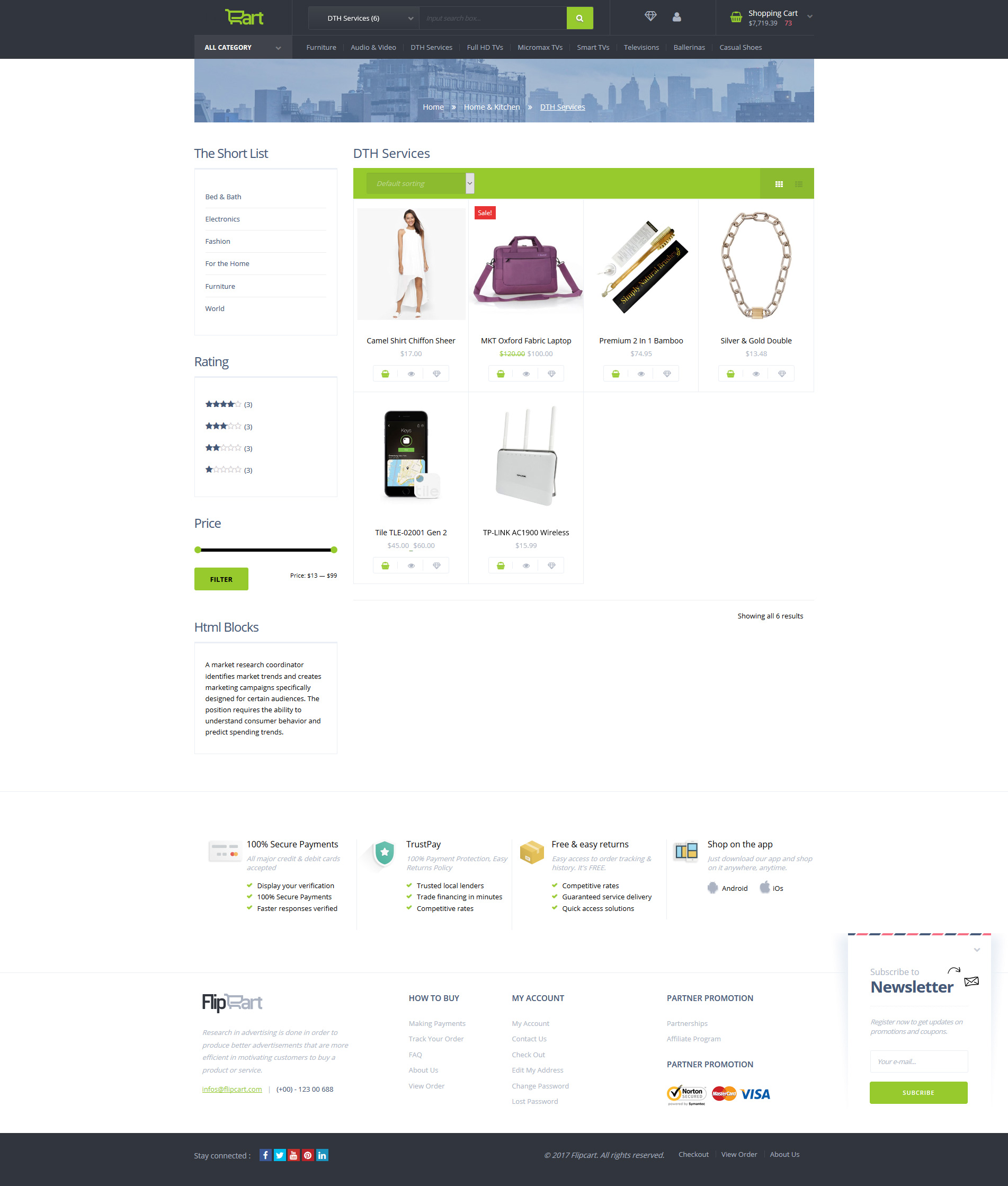 Flipcart- Multipurpose WooCommerce WordPress Theme
