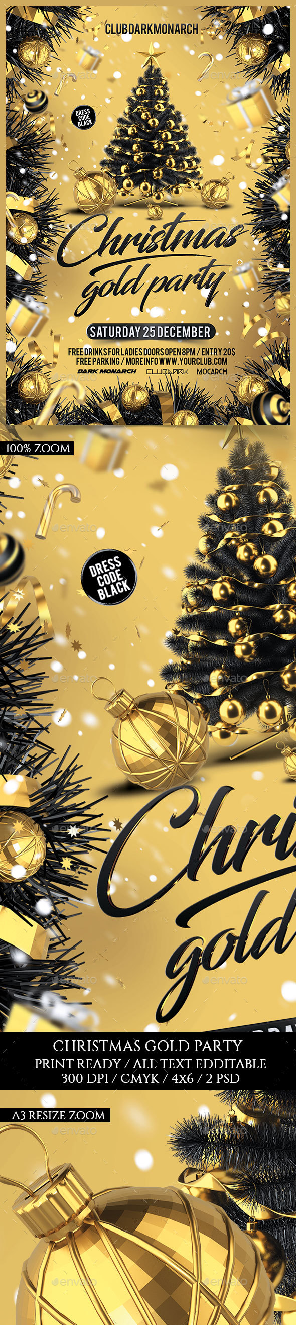 Christmas Gold Party - Holidays Events