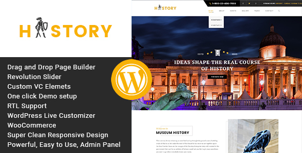 History- Museum & Exhibition WordPress Theme - Miscellaneous WordPress