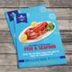 Seafood Restaurant Bi-Fold Menu - GraphicRiver Item for Sale