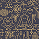 Seamless Patterns - Yoga - GraphicRiver Item for Sale