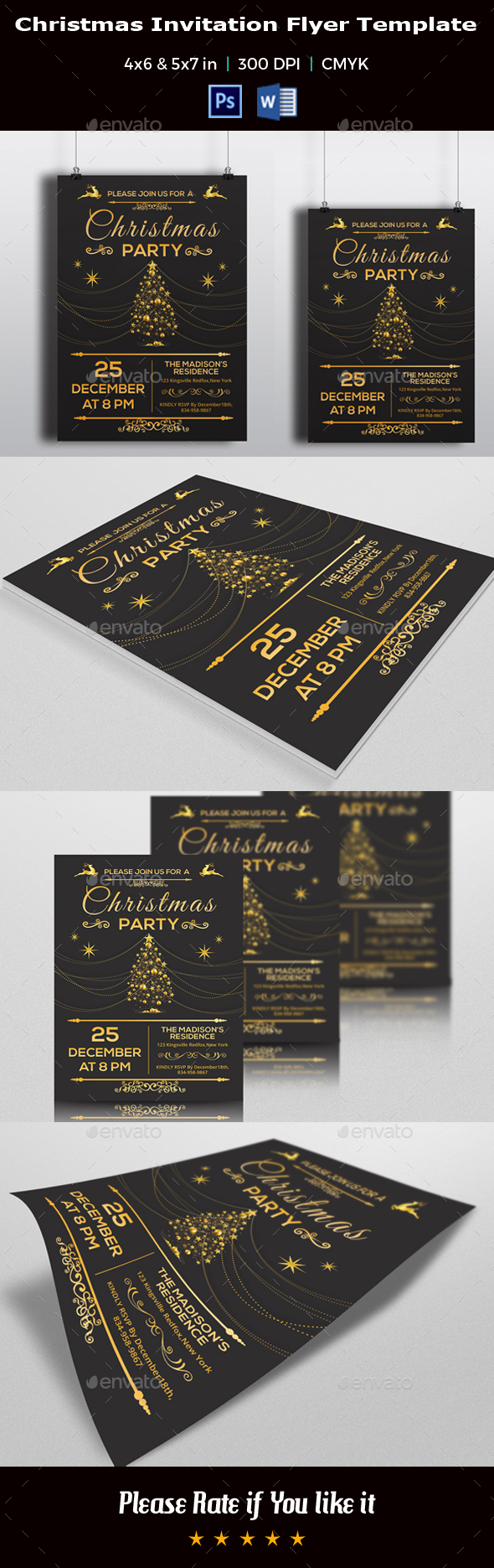 Christmas Invitation Flyer Template V02 - Events Flyers
